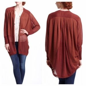 Anthropologie Angel of The North Burnt Red Sweater